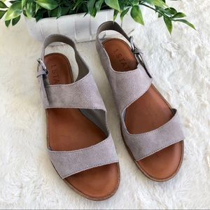 1.state gray suede Caleb sandals 8.5